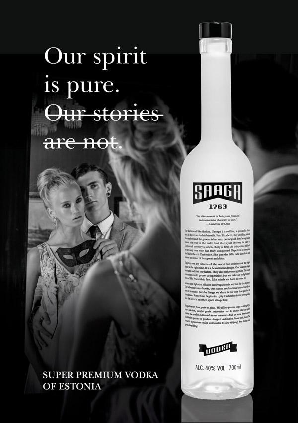 Saaga 1763 Super Premium Vodka